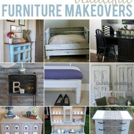 10 Beautiful Furniture Makeovers #furniture #diy