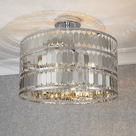 Endon Eldora 90297 Semi Flush Ceiling Light 3 Light