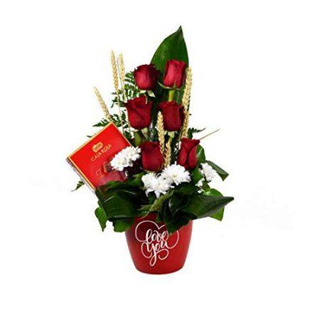 mejor regalo san valentin para mujer - ramo rosas y bombones
