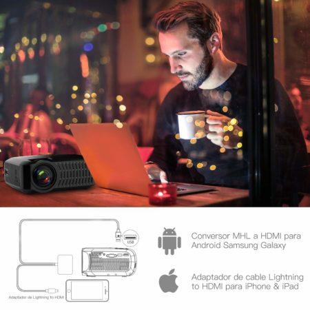 mejores proyectores para exterior - Proyector ABOX 3000 Lúmenes