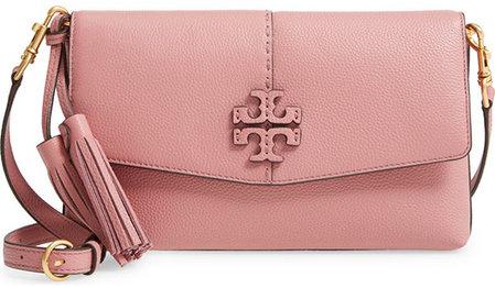 Tory Burch McGraw Leather Crossbody Bag | 40plusstyle.com