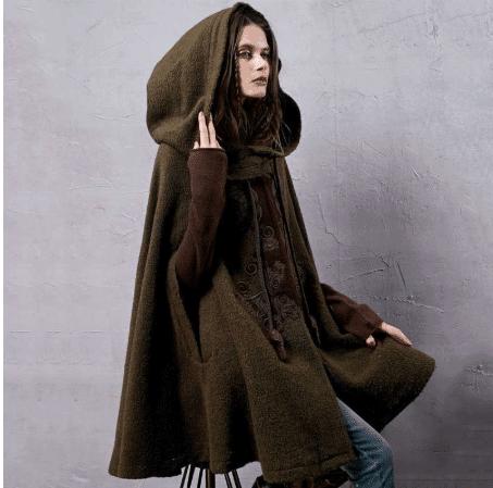 women winter cloak