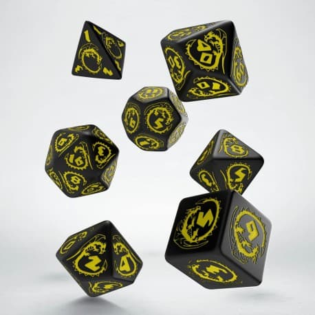 Polydice Set Q-Workshop Dragons Black & Yellow