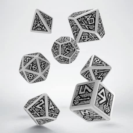 Polydice Set Q-Workshop Dwarven White & Black