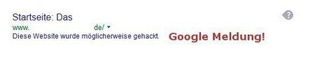 Google Meldung - diese Website wurde wahrscheinlich gehackt SSL schafft Sicherheit