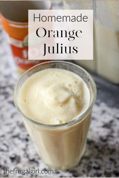 How to make homemade Orange Julius