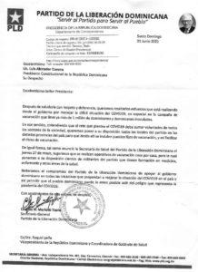 Carta PLD, vacuna.