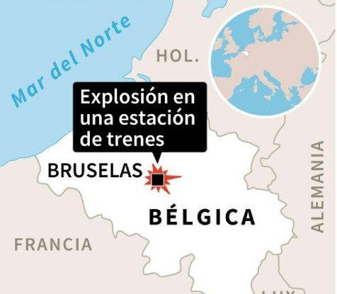 Bélgica: identifican sospechoso de atentado en estación de tren
