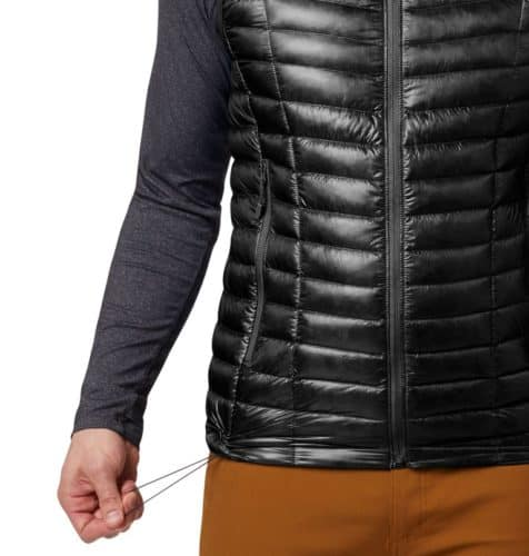 Mounain hardwear's ghost whisperer vest is slim and compact to pack but has goose down lining for warmth.