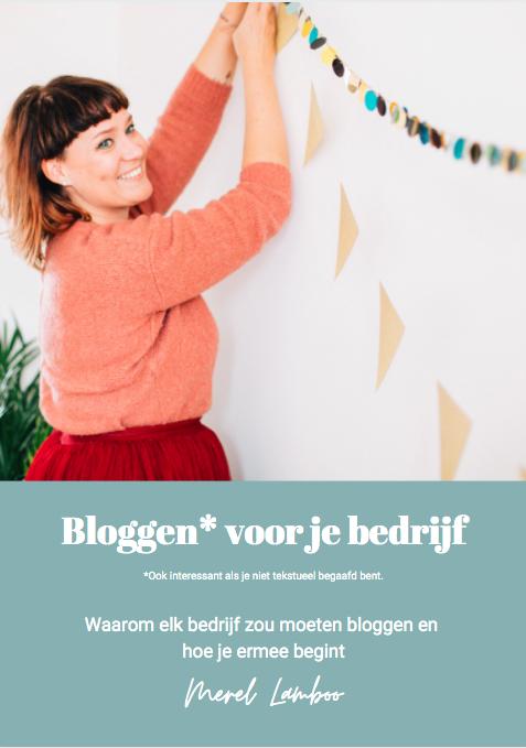 Bloggen voor je bedrijf