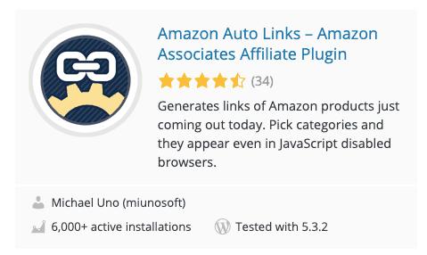 Amazon Auto Links Plugin