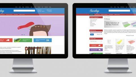 Shanty Banner Website Design E-Commerce Ipswich Suffolk
