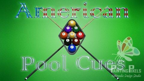 Logo designer ipswich suffolk graphic illustration - american pool cues