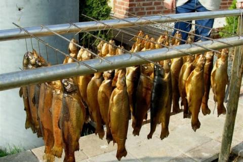 Forellenvisvijvers Het Oosterseveld gerookte forellen