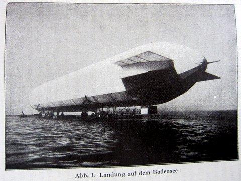Zeppelin - Landung auf dem Bodensee - - Die Amerika-Fahrt des Z.R.III