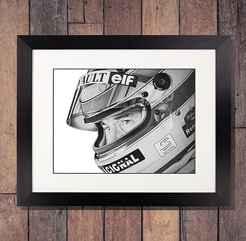 Ayrton Senna Original Artwork – Williams / Renault Helmet Portrait
