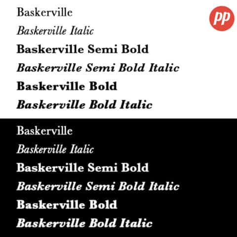 Proof Positive - Baskerville Font
