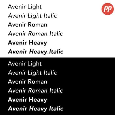 Proof Positive - Avenir Font