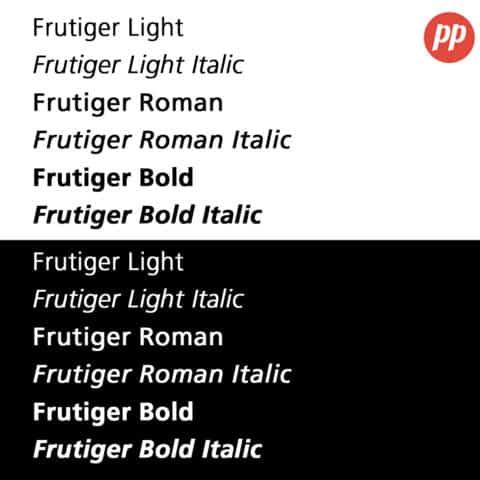 Proof Positive - Frutiger Font