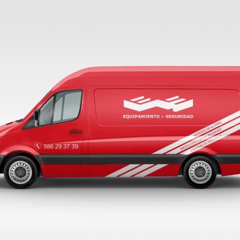 Rotulación furgoneta Equipamiento y Seguridad - Lateral