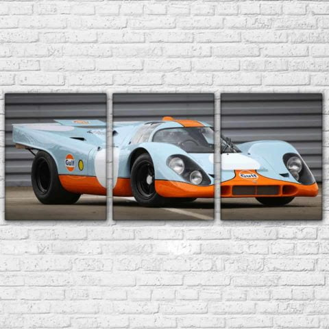 Porsche Gulf Lemans Modular Wall Art Canvas