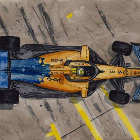 Box Burnouts (Lando Norris) Print