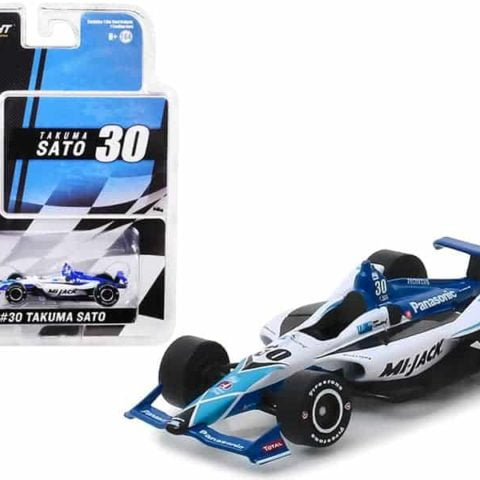 "Honda Dallara Indy Car #30 Takuma Sato Panasonic/Mi-Jack"" Rahal Letterman Lanigan Racing 1/64 Diecast Model Car by Greenlight"""