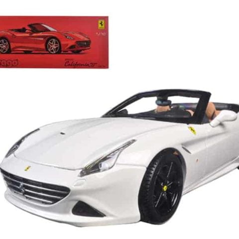 Ferrari California T Open Top Convertible White Signature Series 1/18 Diecast Model Car by Bburago