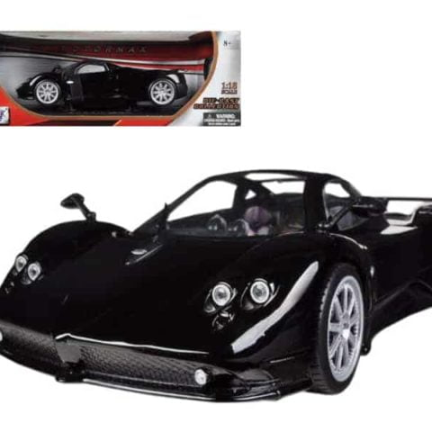 Pagani Zonda F Black 1/18 Diecast Car Model by Motormax