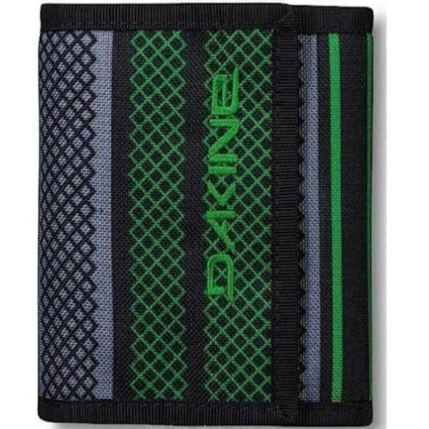 WALLET Dakine Diplomat Verde Purse Ripper Coins Notes Cards Identity