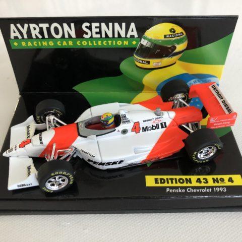 1993 Ayrton Senna | Penske Chevrolet | 1:43 L.A.N.G Diecast Model Car