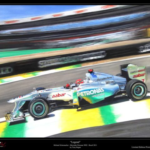 Michael Schumacher F1 Petronas Mercedes W02 Limited Edition Art Print