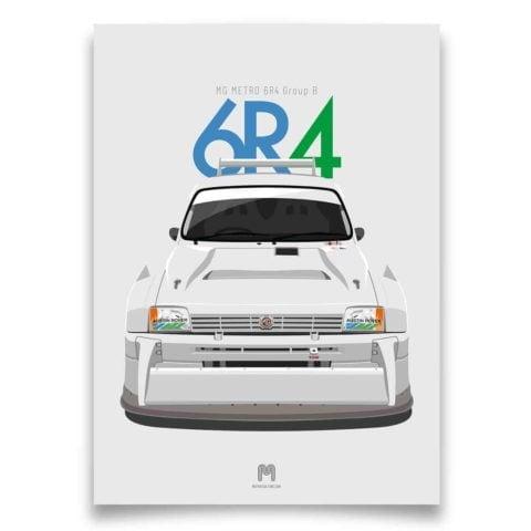 1985 MG Metro 6R4 Group B - Limited Edition Giclée poster print