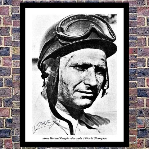Fangio Mercedes Car Wall Art Poster Print - Formula 1 F1 Canvas