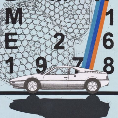 BMW M1 E26 (1978) | Print from an original collage