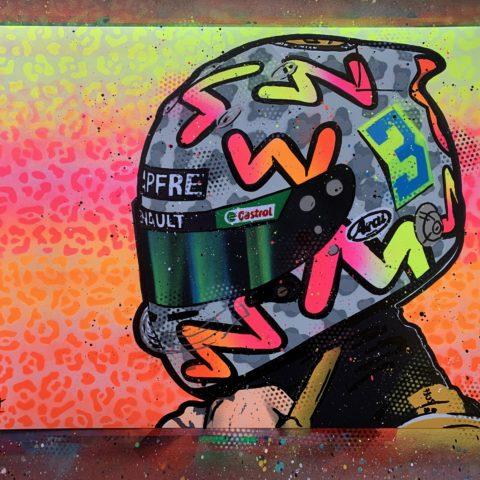 Daniel Ricciardo 2020 - Graffiti Painting