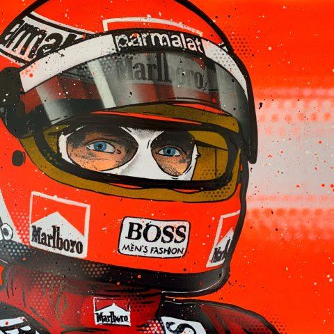 Niki Lauda - Graffiti painting