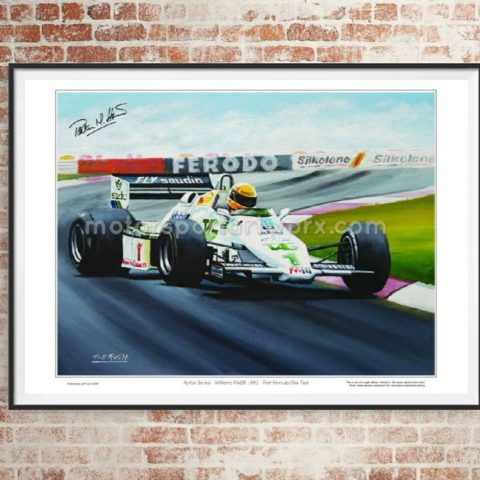 Ayrton Senna Limited edition print by Jeff Rush Formula 1 poster F1 poster Williams F1 poster Motorsport poster