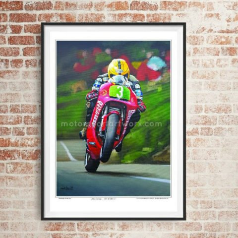 Joey Dunlop limited edition art print by Jeff Rush Motorcycle racing poster Road racing poster TT poster gifts for bikers isle of man TT