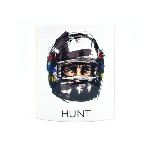 Vintage James Hunt Helmet Apex Illustration Mug