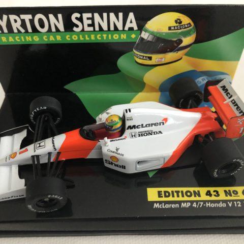 1992 Ayrton Senna McLaren MP4/7 Honda V12 LANG 1:43 Scale Diecast Model Car Edition 43 No.6