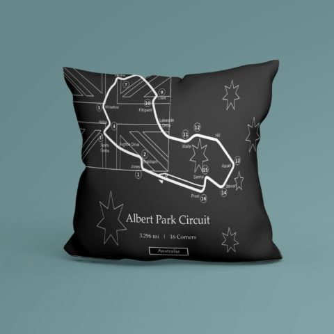 F1 Albert Park Race Track Inspired Cushion - 100% High Quality Pure Cotton - Made In Scotland