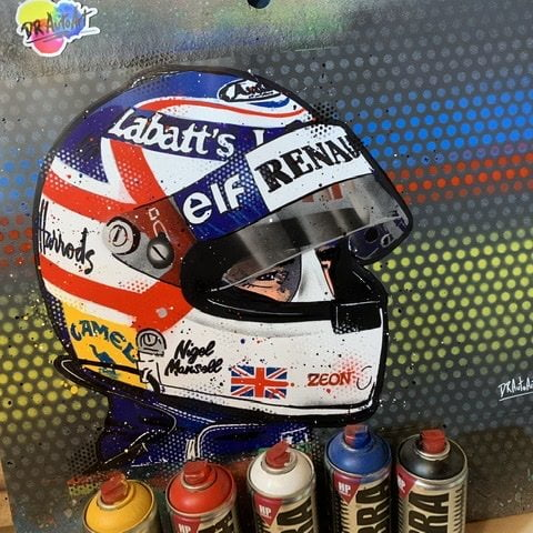 Nigel Mansell - Graffiti painting