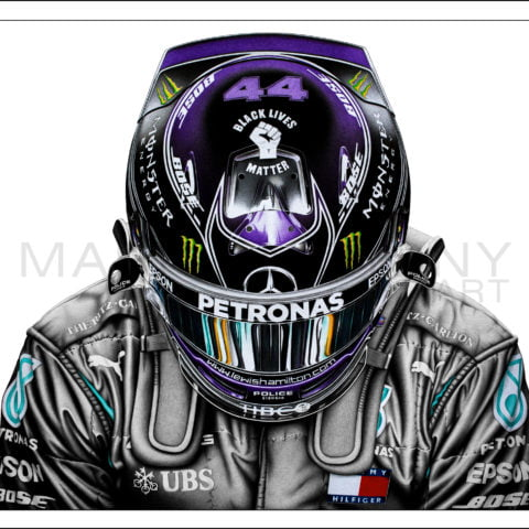 Lewis Hamilton - 'Still We Rise' - Art Print