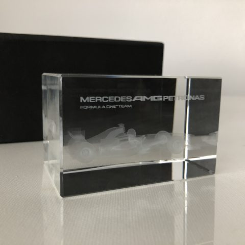 Mercedes AMG Petronas Formula One Team Glass Paperweight