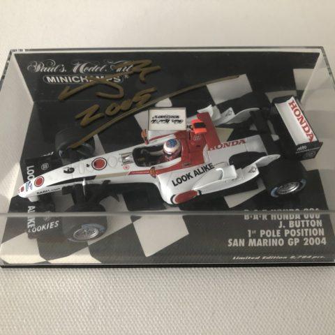 Jenson Button   2004 B.A.R Honda 006   1:43 Minichamps F1 Model Car with hand signed Case