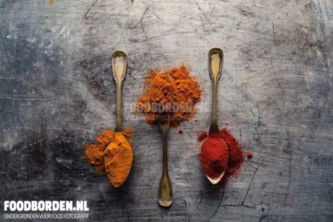 Verweerd aluminium sleets achtergrond food fotografie