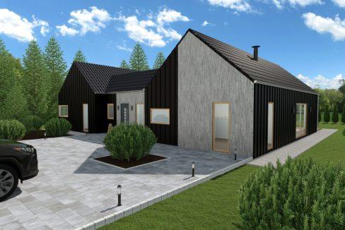 Sodobna pritlična montažna hiša Argenta