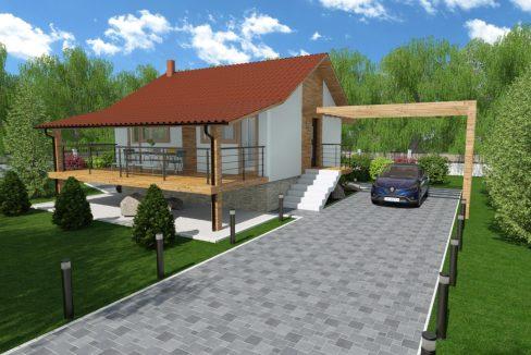 Pritlična montažna hiša Penna