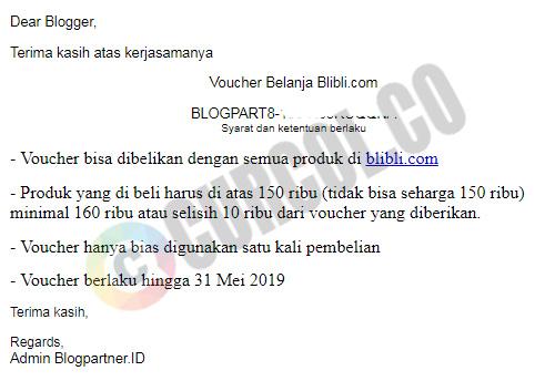 Contoh email komisi voucher